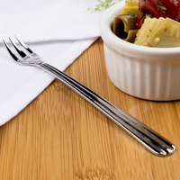 Acopa Harmony 6 inch 18/8 Stainless Steel Extra Heavy Weight Oyster / Appetizer / Cocktail Fork - 12/Case