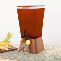Choice 5 Gallon Brown Beverage / Juice Dispenser