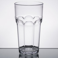 Carlisle 583207 Louis 32 oz. Clear Plastic Tumbler - 24/Case