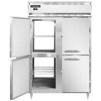 Continental DL2F-SS-PT-HD 52 inch Solid Half Door Pass-Through Freezer