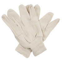 Standard Weight Cotton Canvas Work Gloves - Large - Pair - 12/Pack