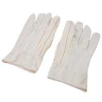 Natural Nap-Out Polyester / Cotton Double Palm Work Gloves - Large - Pair   - 12/Pack