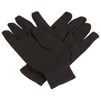 Men's Heavy Weight Brown Cotton Jersey Gloves - Large - Pair - 12/Pack