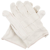 Men's Heavy Weight Cotton Double Palm Work Gloves with Burlap Lining - Large - Pair - 12/Pack