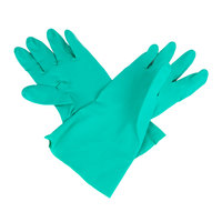 Premium 11-Mil Green Embossed Unsupported Nitrile Gloves - Medium - Pair - 12/Pack