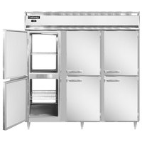 Continental DL3F-SS-PT-HD 78 inch Solid Half Door Pass-Through Freezer