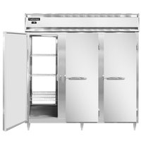 Continental DL3F-SS-PT 78 inch Solid Door Pass-Through Freezer