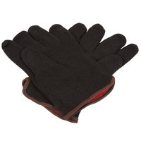 Men's Brown Cotton Jersey Gloves with Red Lining - Pair - 12/Pack