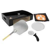 BakerStone Black Ceramic Original Grill Top Pizza Oven with Pizza Oven Peel, Cutter, and 12 inch Aluminum Tray