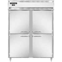Continental DL2FES-SS-HD 57 inch Extra-Wide Shallow Depth Solid Half Door Reach-In Freezer