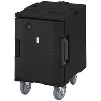 Cambro UPCHW400110 Black Ultra Pan Carrier Heated Holding Pan Carrier with Casters - 110V