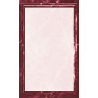 8 1/2 inch x 11 inch Burgundy Menu Paper - Marble Border - 100/Pack