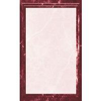8 1/2 inch x 11 inch Burgundy Menu Paper - Marble Border - 100/Pack