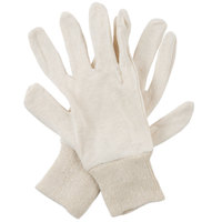 Women's Natural Cotton Reversible Jersey Gloves - Large - Pair   - 12/Pack