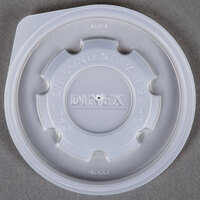Dinex DX40008714 Translucent Disposable Lid for Dinex Heritage 8 oz. Mug and Dinex Heritage 5 oz. Bowl - 2000/Case