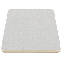 American Tables & Seating ATS2460 24 inch x 60 inch Laminate Table Top with Cream Edge