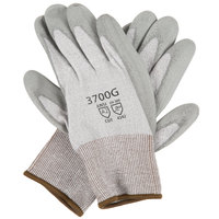 HPPE Gloves with Gray Polyurethane Palm Coating - Extra Large - Pair
