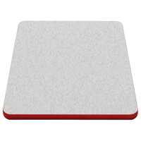 American Tables & Seating ATS2460 24 inch x 60 inch Laminate Table Top with Red Edge