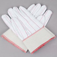 Natural Nap-In Polyester / Cotton Double Palm Work Gloves - Large - Pair - 12/Pack