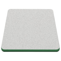 American Tables & Seating ATS2460 24 inch x 60 inch Laminate Table Top with Green Edge
