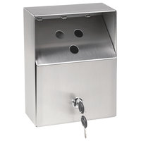 Crown Verity ZCV-AT-001 Small Stainless Steel Outdoor Wall-Mount Urn with Keyed Cam Lock