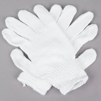 Medium Weight White Polyester Work Gloves - Extra Large - Pair - 12/Pack