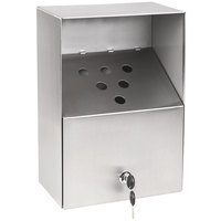Crown Verity ZCV-AT-002 Large Stainless Steel Outdoor Wall-Mount Urn with Keyed Cam Lock