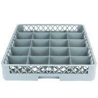 Noble Products 20-Compartment Gray Full-Size Glass Rack - 19 3/8 inch x 19 3/8 inch x 4 inch