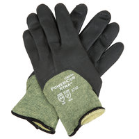 Power-Cor Kevlar® / Steel / Synthetic Fiber Cut Resistant Gloves with Black Foam Nitrile Palm Coating - Extra Large - Pair