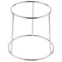 Choice 6 inch Round Chrome Plated Steel Display Stand