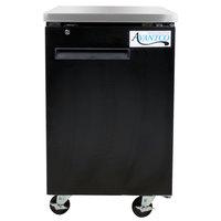 Avantco UBB-1-HC 23 inch Black Solid Door Back Bar Refrigerator