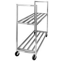 Channel BBT-6020-2 Aluminum Two Shelf Utility Cart - 60 inch x 20 inch x 67 1/2 inch