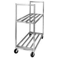 Channel BBT-4220-2 Aluminum Two Shelf Utility Cart - 42 inch x 20 inch x 67 1/2 inch