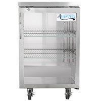 Avantco UBB-1G-HC-S 23 inch Stainless Steel Glass Door Back Bar Refrigerator
