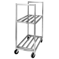 Channel BBT-3620-2 Aluminum Two Shelf Utility Cart - 36 inch x 20 inch x 67 1/2 inch