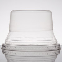 Choice 5-12 oz. Clear Plastic Tall Dome Lid, No Hole - 50/Pack