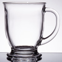 Acopa 16 oz. Clear Glass Cafe Mug - 12/Case
