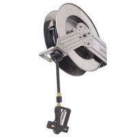 Fisher 29599 Industrial Reel Wall Mounted Exposed Hose Reel with 35' Hose and 7 GPM Spray Gun