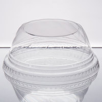 Choice 5-12 oz. Clear Plastic Low Dome Lid, No Hole - 50/Pack