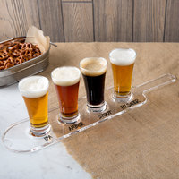 Acopa Tasting Flight Set - 4 Flare Sampler Glasses with Drop-In Acrylic Taster Paddle