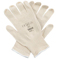 Natural Cotton Work Gloves with Blue Nitrile Palm Coating - Large - Pair - 12/Pack