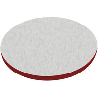 American Tables & Seating ATS48 48 inch Round Laminate Table Top with Red Edge