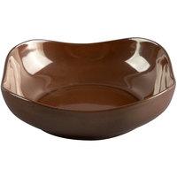 Hall China 12110ACOA Copper 28 oz. China Square Bowl   - 12/Case
