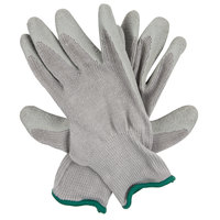 Cor-Grip III Polyester / Cotton Grip Gloves with Gray Crinkle Latex Palm Coating - Medium - Pair   - 12/Pack