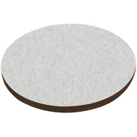 American Tables & Seating ATS48 48 inch Round Laminate Table Top with Brown Edge