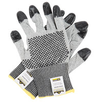 Monarch Dots Gray Engineered Fiber Cut Resistant Gloves with Two-Sided Nitrile Dotted Coating - Large - Pair