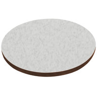 American Tables & Seating ATS42 42 inch Round Laminate Table Top with Brown Edge