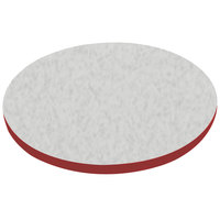 American Tables & Seating ATS42 42 inch Round Laminate Table Top with Red Edge