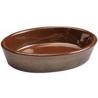 Hall China 5710ACOA Copper 10 oz. China Oval Baker Dish - 24/Case