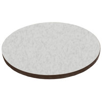 American Tables & Seating ATS24 24 inch Round Laminate Table Top with Brown Edge